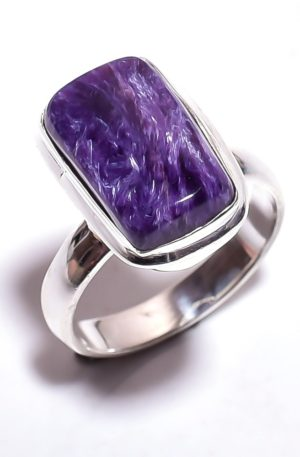 Кольцо с чароитом