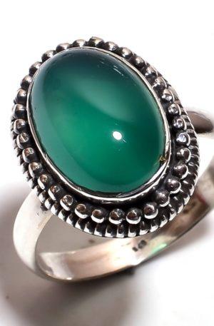 Кольцо зелёный оникс