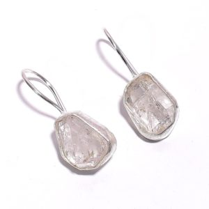 Серьги с херкимерским алмазом