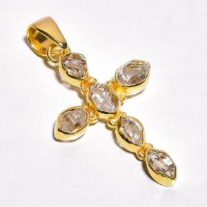 Подвеска с херкимерскими алмазами