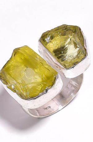 Кольцо с лимонным кварцем