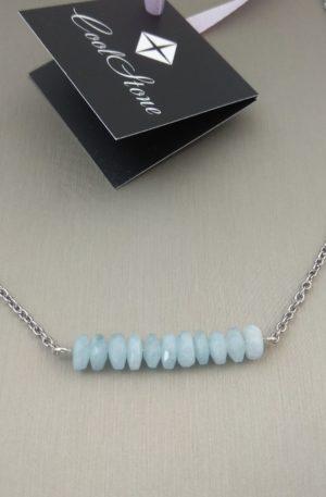 Ожерелье с аквамарином