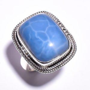 Кольцо с голубым опалом